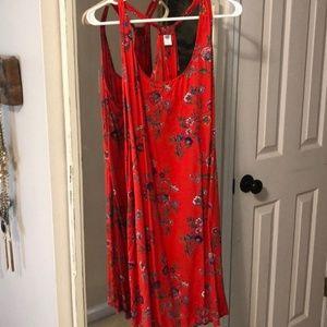 Cute red summer dress
